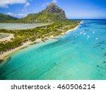 mauritius beach island aerial... | Shutterstock . vector #460506214