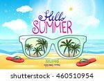 vector summer blurred beach ... | Shutterstock .eps vector #460510954