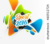 summer sport 2016 concept... | Shutterstock .eps vector #460512724