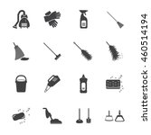 cleaning icons set. vector... | Shutterstock .eps vector #460514194