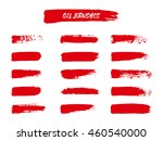 vector set of red  brush... | Shutterstock .eps vector #460540000