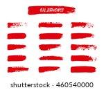 vector set of red  brush... | Shutterstock .eps vector #460540000