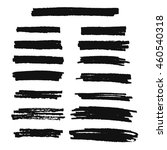 vector highlighter brush lines. ... | Shutterstock .eps vector #460540318