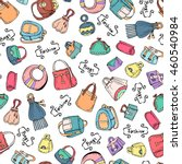 vector seamless pattern with... | Shutterstock .eps vector #460540984