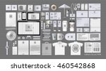 corporate identity template set.... | Shutterstock .eps vector #460542868