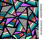 geometric pattern seamless... | Shutterstock .eps vector #460548940
