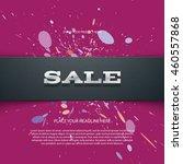 vector flyer or banner design... | Shutterstock .eps vector #460557868