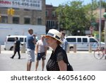 Small photo of NEW YORK CITY - JULY 23 2016: More than one hundred activists braved scorching Brooklyn heat to rally at the Barclay's Center & marching through downtown Brooklyn. Actress & activist Susan Sarandon