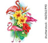 arrangement from tropical...   Shutterstock .eps vector #460561990