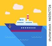 vector concept of sea freight...