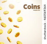 gold coins falling down... | Shutterstock .eps vector #460569364