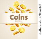 gold coins falling down... | Shutterstock .eps vector #460569370