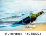 romantic day with glasses of... | Shutterstock . vector #460580026