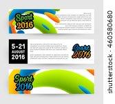 summer sport 2016 concept... | Shutterstock .eps vector #460580680