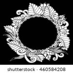 hand drawn frame with flowers | Shutterstock .eps vector #460584208