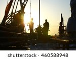 oil drilling exploration  the... | Shutterstock . vector #460588948