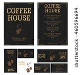 coffee house menu template.... | Shutterstock .eps vector #460596694