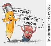 back to school illustration.... | Shutterstock .eps vector #460597030