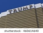 Small photo of Las Vegas - Circa July 2016: Trump Hotel Las Vegas. Named for real estate developer Donald Trump, the exterior windows are gilded with 24-karat gold I