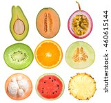 fruit isolated on white... | Shutterstock . vector #460615144