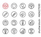 medical icons with white... | Shutterstock .eps vector #460627030