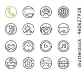 mobile phone icons with white... | Shutterstock .eps vector #460627918