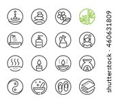 spa icons with white background  | Shutterstock .eps vector #460631809