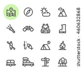 camping icons with white... | Shutterstock .eps vector #460632868