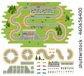 Race Track Curve Road Vector ...