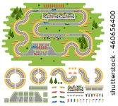 sport race track curve road... | Shutterstock .eps vector #460656400