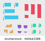 label origami blank 3d big... | Shutterstock .eps vector #460662388