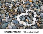 heart laid out on the pebbles....   Shutterstock . vector #460669660