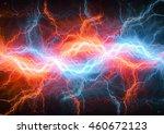 fire and ice fractal lightning.    Shutterstock . vector #460672123