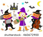people who disguise itself by... | Shutterstock .eps vector #460672900