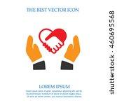 handshake forming heart in... | Shutterstock .eps vector #460695568