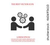 business meeting vector.... | Shutterstock .eps vector #460695610