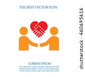 businessman meeting vector icon.... | Shutterstock .eps vector #460695616