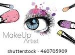 vector hand drawn illustration... | Shutterstock .eps vector #460705909
