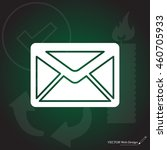 envelope mail icon  vector... | Shutterstock .eps vector #460705933