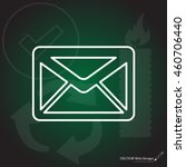sms line vector icon | Shutterstock .eps vector #460706440