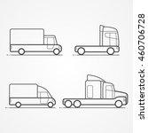 cars. types of trucks | Shutterstock .eps vector #460706728