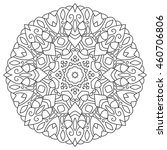 mandala for coloring isolated...   Shutterstock . vector #460706806