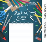 back to school education... | Shutterstock .eps vector #460712734