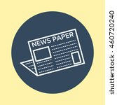 web icon of newspaper. | Shutterstock .eps vector #460720240