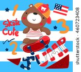 cartoon teddy bear playing... | Shutterstock .eps vector #460723408