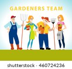 flat profession characters.... | Shutterstock . vector #460724236