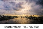 drops of water on glass while... | Shutterstock . vector #460732450