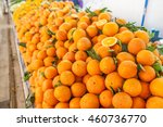 fresh oranges at a local... | Shutterstock . vector #460736770