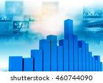 business graph chart. 3d render.... | Shutterstock . vector #460744090