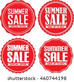 summer sale red label set ... | Shutterstock .eps vector #460744198